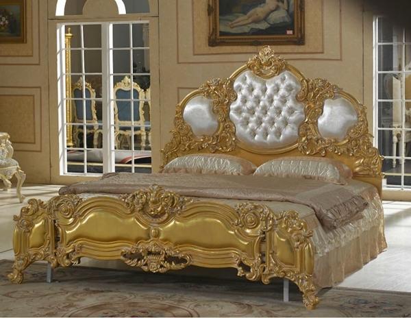 Dormitorio Madera Labrada Oro