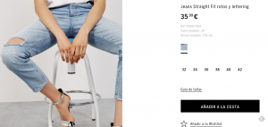 Jeans Straight Fit rotos y lettering 35,99 €