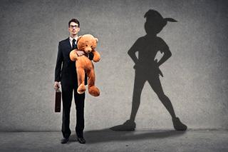 La mente de un adulto puede fácilmente atraparse en una etapa de infancia